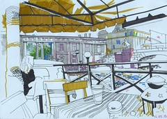 Woodbarge (bogema) Tags: river cafe explore saintpetersburg      woodbarge