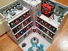 [MOC] Stark Industries Armory - Iron Man Hall of Armor LEGO (becauseBATMAN) Tags: man design hall iron lego ironman armor legos buster hulk custom armory stark industries customs moc hulkbuster hallofarmor