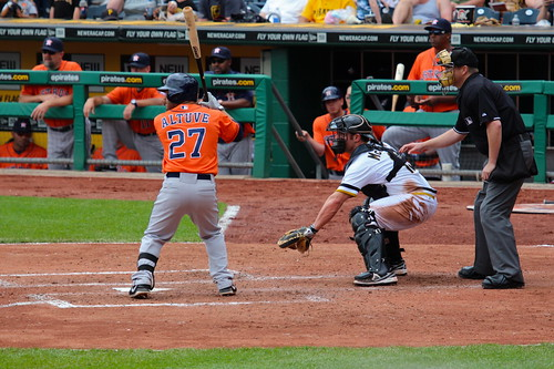 Jose Altuve digs in against Pirates P Je by roy.luck, on Flickr
