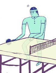 ping pong man (Nick_ Alston) Tags: sports illustration table tennis ping pong nickalston