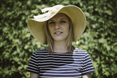 Laura (Hodg) Tags: summer portrait woman white laura green love girl beautiful coral garden spring dress heart sweet young hedge blonde ah visuals vc hedges parkwood sunhat foolsgold 2013 vsco canon5dmk2 sigma35mm14 ahvisuals rdrplz