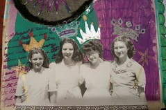 Queen For Life (artsychicksw) Tags: art altered book mixed media purple teal journal crown journaling