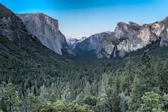 Yosemite National Park (Bridgeport Mike) Tags: park trees sky nature pine clouds landscape waterfall sony el falls national yosemite dome half rest bridalveil rx capitan dsc00627