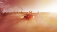 The Dust Cloud (Lee) Tags: trees summer sky sun grass car sunshine birds stone clouds haze rocks bright cloudy rally fast racing dirt wrc subaru dust imprezza leeislee leeworrall