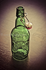 Vintage Grolsch Lager Beer Bottle (A Great Capture) Tags: old green beer dutch vintage ceramic bottle wire bright top cap etsy emerald grolsch lid lager hinged ald ash2276 ashleyduffus