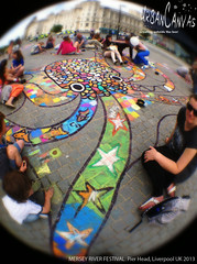 Mersey River Festival (UrbanCanvas) Tags: uk urban art public festival museum liverpool river giant children pier chalk artist head drawing pavement arts picture culture canvas sidewalk event workshop artists octopus mermaid chalking mersey anamorphic merseyside participation 2013 urbancanvas octofish