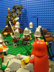 The Horrors of War (GrayOverload) Tags: horse castle soldier war kill lego wizard helmet cobblestone burn sword murder knight blade apothecary stake spear