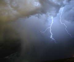 Severe Thunderstorm Outside of Laramie (bflinch1) Tags: storm rain night clouds lightning wyoming loud thunder laramie severestorm nighttimephotography