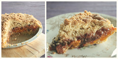 where the apricots went... (SarahLaBu) Tags: pie recipe baking blog diptych coconut chocolate apricot crumble