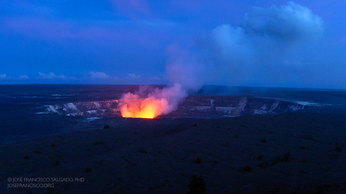 Kīlauea Caldera at twilight