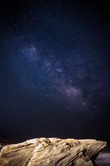 Night Sky Playa Migjorn 2 (fadole) Tags: sea sky beach rock night way stars island milky formentera starry mediterrenean balearic