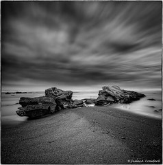 "Lalush's Beast (James A. Crawford - ""Crawf"") Tags: ocean california longexposure wallpaper sky blackandwhite bw usa white seascape black art texture beach nature water photoshop canon landscape eos blackwhite rocks w"