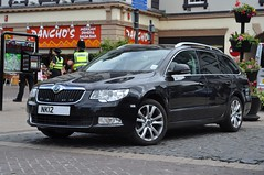 An undercover Police Skoda Superb estate car, at Carlisle.