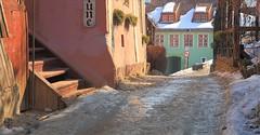 Black Ice (AdjaFong) Tags: romania sighisoara transilvania glatteis siebenbürgen