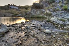 Atardecer en el arroyo del Muso (Rebelorz) Tags: santiago sunset river de atardecer eos la effect seda espada arroyo muso efecto slik 500d santiagopontones