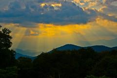 Blue Ridge Rays (Bradley Nash Burgess) Tags: sunset cloud sun clouds nc nikon northcarolina rays sunrays blueridgeparkway sunray blueridge westernnc westernnorthcarolina d7000 nikond7000