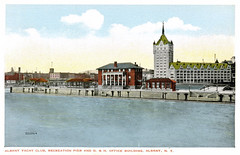 D&H Building and Albany Yacht Club   c 1916  albany ny (albany group archive) Tags: old albany ny historic vintage dhbuilding yacht club 1920a hudson river oldalbany history early 1900s photos historical photographs