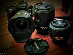 My photography gears (NurAzam) Tags: nikon gears lenses equipments sigma18200mm d5100 tamron1024f3545 nikkor35mm18gdx nikond5100