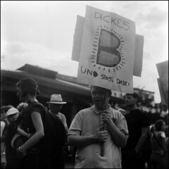 (Incense and Peppermints) Tags: berlin mediumformat scan prideparade rodinal rolleicord selfdeveloped ilfordfp4 2013
