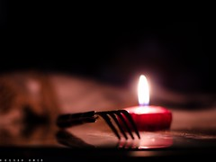 a fork in candle light (hassan_amer) Tags: light beautiful 50mm nice nikon candles low flame wax nikkor d7000