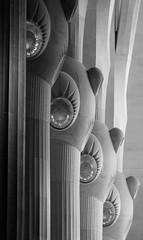 Sagrada Familia pillars 06 BW oct 13 (Shaun the grime lover) Tags: barcelona detail church monochrome familia spain basilica pillar catalonia espana gaudi catalunya sagrada antoni
