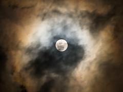 Mr.Moonlight [explored] (kasa51) Tags: sky cloud night olympus 雲 空 omd themoon 夜 月 f4056 em5 mzuiko digital40150mm
