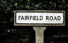 fairfield Road (Peeturh Jackson) Tags: road family colour green art home field childhood sign photography 50mm nikon cheshire fair hedge memory roadsign fairfield photograhy digitalphotography fineartphotography widnes fairfieldroad colourphotography nikond3100