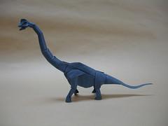 Brachiosaurus v3 (shuki.kato) Tags: paper origami dino dinosaur foil tissue fold kato sauropod brachiosaurus shuki origamido giraffatitan