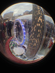 The Lego Christmas Snow Globe (CoasterMadMatt) Tags: christmas city uk greatbritain autumn england fish snow london eye english westminster garden lens photography photo globe model december lego photos unitedkingdom britain south bricks capital londoneye east fisheye attachment covent gb coventgarden british southeast fisheyelens iphone capitalcity cityofwestminster 2013 coastermadmatt uploaded:by=flickrmobile flickriosapp:filter=nofilter legochristmassnowglobe