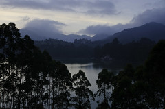 Munnar Sunset #2 (mittux) Tags: trees sunset india lake painterly mountains kerala lee filters notan ndgrad