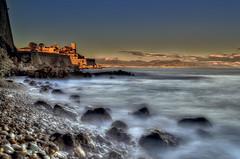 Antibes, France (D. Scott McLeod) Tags: longexposure sunset france nikon rocks côtedazur coastline antibes hdr scottmcleod frenchriviera photomatixpro nikond800 dscottmcleod