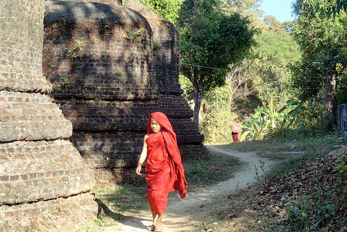 Novice monk in Mrauk U