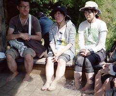 foot bath (troutfactory) Tags: film japan mediumformat rangefinder  analogue 6x7 hotspring kansai footbath    takedao kodak400portra fujifilmgf670 voigtlanderbessaiii