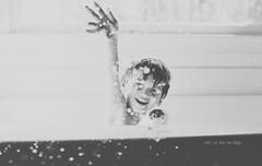 """Trouble...with a capital """"T"""" (austinsGG) Tags: boy bw austin fun bath toddler splash mythreesons weretroubletogether"""