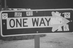 oneway (ube1kenobi) Tags: streetart art graffiti stickers urbanart stickertag ube sanfranciscograffiti slaptag newyorkgraffiti losangelesgraffiti sandiegograffiti customsticker ubeone ubewan ubewankenobi ubesticker ubeclothing
