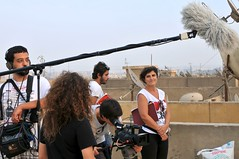 Crew on the set of Generation Entrepreneur in Egypt.