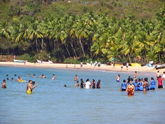 Bogmalo Blues (Saumil U. Shah) Tags: ocean travel sea sun india tourism beach water relax sand flickr surf coconut indian goa tourist palm leisure arabian shah arabiansea  bogmalo saumil incredibleindia bogmallo saumilshah