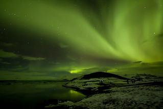 Northern Lights, Jokusarlon Glacial Lagoon