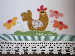 Guardanapo galinha com flores (vaniathomazim) Tags: flores flower casa galinha flor artesanato colagem patch patchwork cozinha guardanapo croche galinhas costura aplique guardanapos patchcolagem