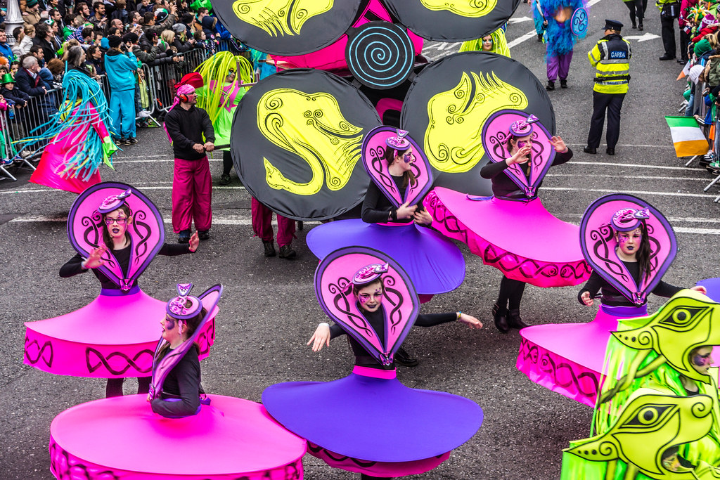 Artastic Provides Colour For The Saint Patrick's Day Parade In Dublin