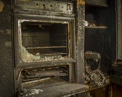 Burnt & Abandoned Oven (darkday.) Tags: urban black building brick abandoned kitchen dark fire dangerous oven decay mixer entrance australia brisbane explore urbanexploration enjoy qld queensland melted exploration milf ue urbex unlocked abando easyentry