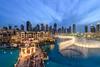 Dancing Fountain,Dubai (©Helminadia Ranford) Tags: travel fountain mall dubai cityscape dancing uae bluehour top20flickrskylines
