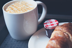 Breakfast is served (swingking85) Tags: dublin coffee breakfast yum continental delicious starbucks pastry croissant 100mmmacro