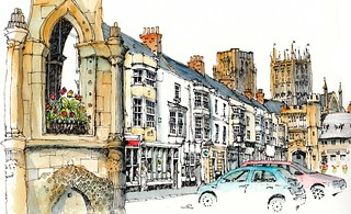 Wells market square, Somerset