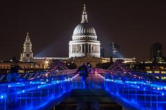 Midnight Shoot (andyrousephotography) Tags: city bridge london architecture night buildings landscape cityscape cathedral stpauls thecity millenniumbridge financialdistrict nighttime riverthames