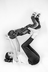 I believe I can fly ! (NSJW photos) Tags: boy bw playing girl fun mono play sister brother youngest eldest nsjwphotos