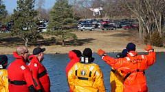 Smile, Guys! (jrussell.1916) Tags: winter orange yellow lakes kansas specialolympics winterfun shawneemissionpark drones canonef70200mmf4lis goprocamera waterrescueteam