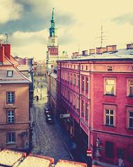 Poznan main square (Mariusz Murawski) Tags: street city building tower cars poland polska poznan mainsquare