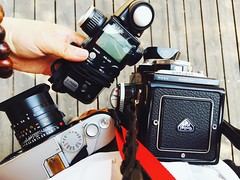 () Tags: camera 120 tlr film 35mm filmcamera lightmeter leicam7 filmphotography sekonic rolleiflex35f l758d
