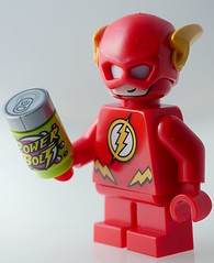The Flash (aktuaroslo) Tags: leica lego 45mm minifigure 76063 lumixgh4 mightymicros